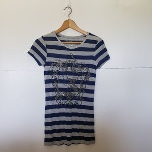 Harry Potter Ravenclaw House Striped Shirt Small